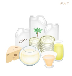 Health and nutrition benefits of fat products vector