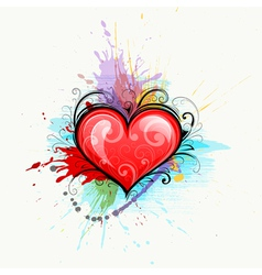 heart on colourful background vector image vector image