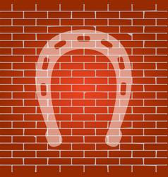 Horseshoe sign whitish icon vector