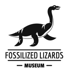 jurassic museum logo simple black style vector image