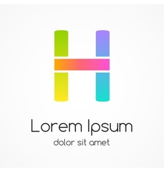 Logo letter H company design template vector image