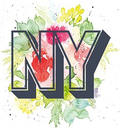 Print for t-shirt pattern ny vector