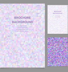 Purple rectangle tile mosaic brochure template vector