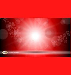 Red glamorous lights waves sparkling effects vector