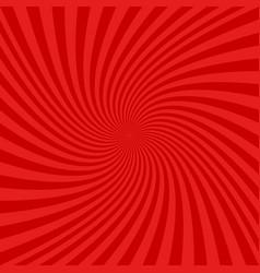 Red spiral design background vector