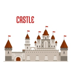Royal castle with towers and curtain walls vector image vector image