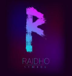 rune scandinavia is a raidho riches vector image