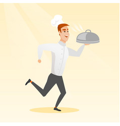 running chef cook vector image vector image