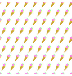 Seamless pattern summer beach ice cream cone vector