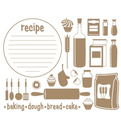 Set of products for baking vector