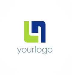 shape square business logo vector image
