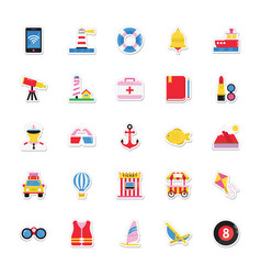 summer and holidays icons 19 vector image vector image