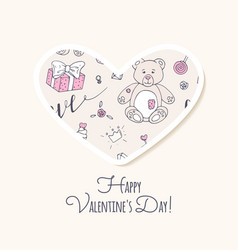 Valentine day sticker love heart form vector