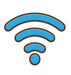 wifi icon design vector image