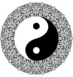 Yin yang decorative symbol vector