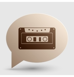 Cassette icon audio tape sign brown gradient vector