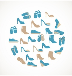Shoes icons vector image