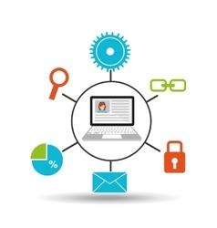 computer technology social media concept vector image