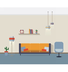 Modern interior living room vector