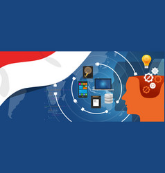 Indonesia it information technology digital vector