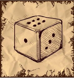 Lucky dice isolated on vintage background vector image