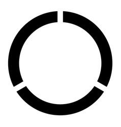 Data sign the black color icon vector
