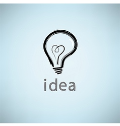 Bulb icon with idea concept vector