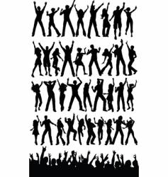 Party people dancing vector