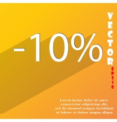 10 percent discount icon symbol flat modern web vector