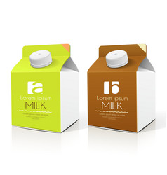 Milk box packaging design collections vector image