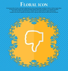 Dislike floral flat design on a blue abstract vector