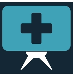 Health care presentation icon vector