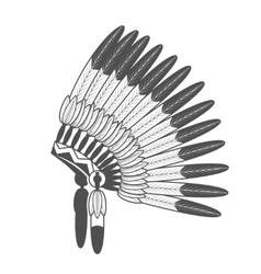 Native american feathered war bonnet vector