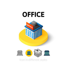Office icon in different style vector