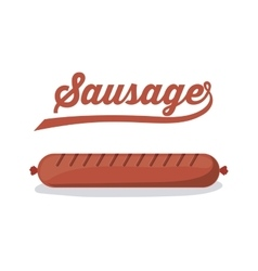 Delicious sausage design vector