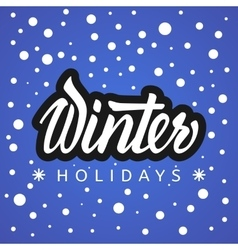 Winter holidays hand lettering vector