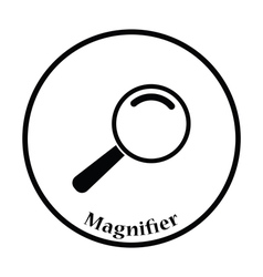 Icon of magnifier vector