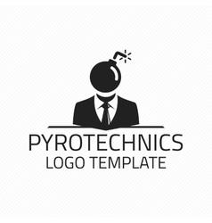 Pyrotechnics logo template vector