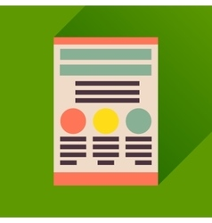 Flat icon with long shadow economic document vector