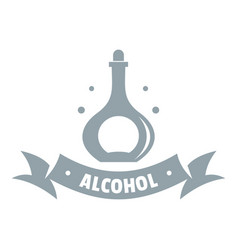 alcohol logo simple gray style vector image vector image