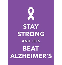alzheimers poster vector image vector image