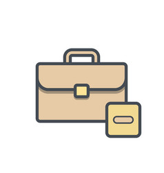 bag briefcase business portfolio stop vector image