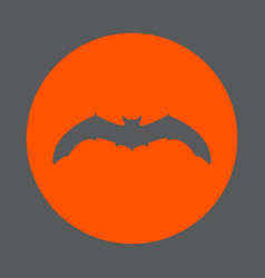 Bat round icon flat style simple color vector