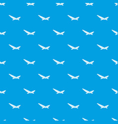 Beach chaise pattern seamless blue vector