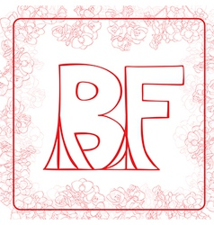 Bf monogram vector
