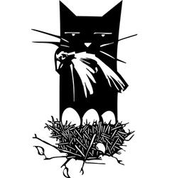 Bird Hunting Cat vector image
