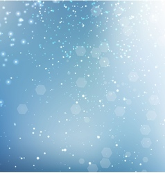 Blue glittering sparkle background vector image