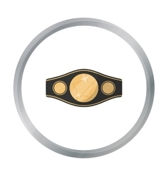 Boxing championship belt icon in cartoon style vector