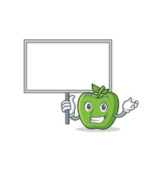 Bring board green apple character cartoon vector