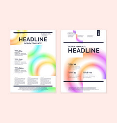 brochure template for business modern journal vector image